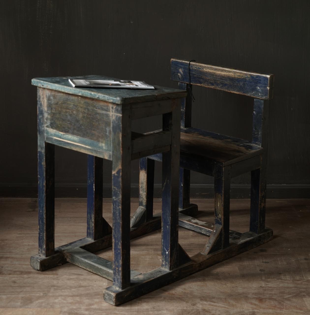 Old Indian school desk-5