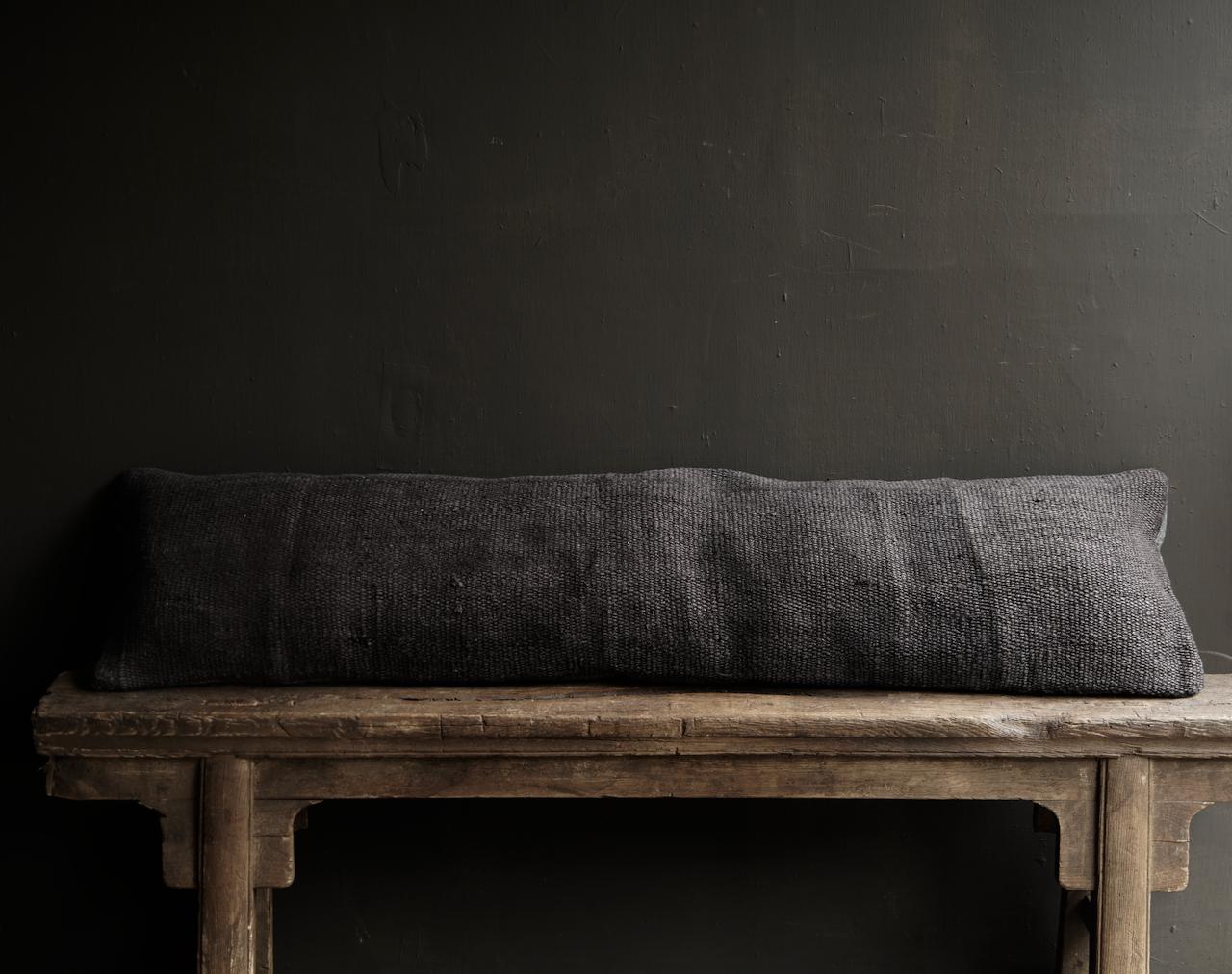 Beautiful cool long black hemp cushion-4