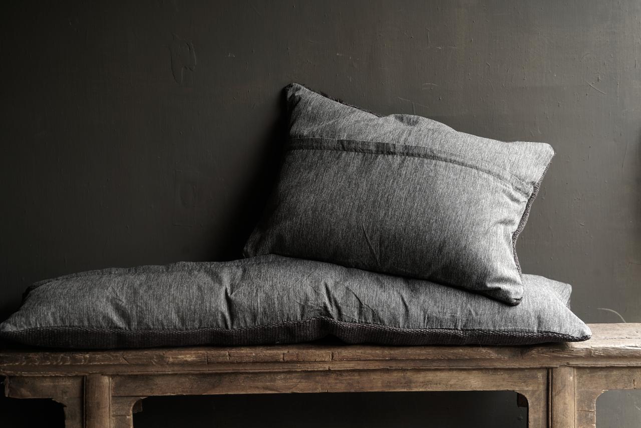 Beautiful cool long black hemp cushion-5