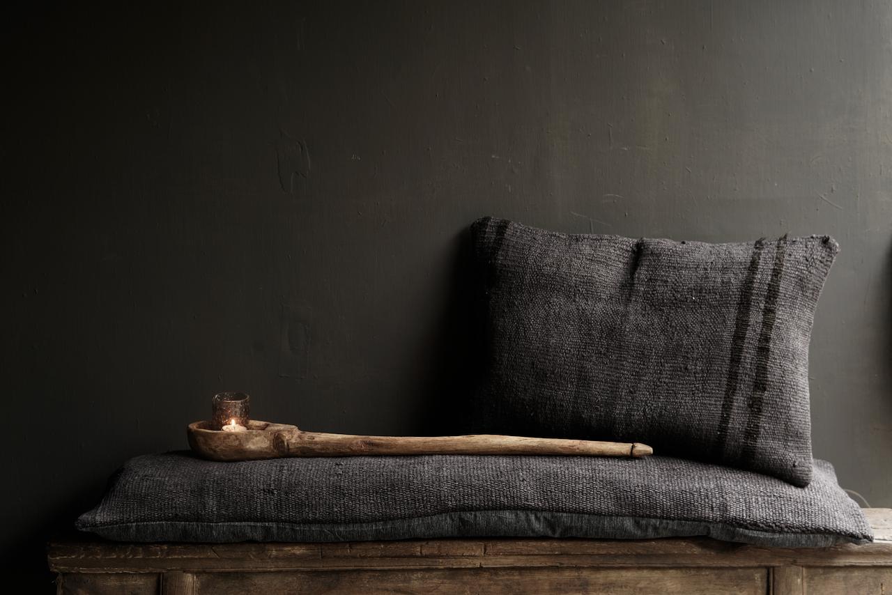 Beautiful cool long black hemp cushion-6