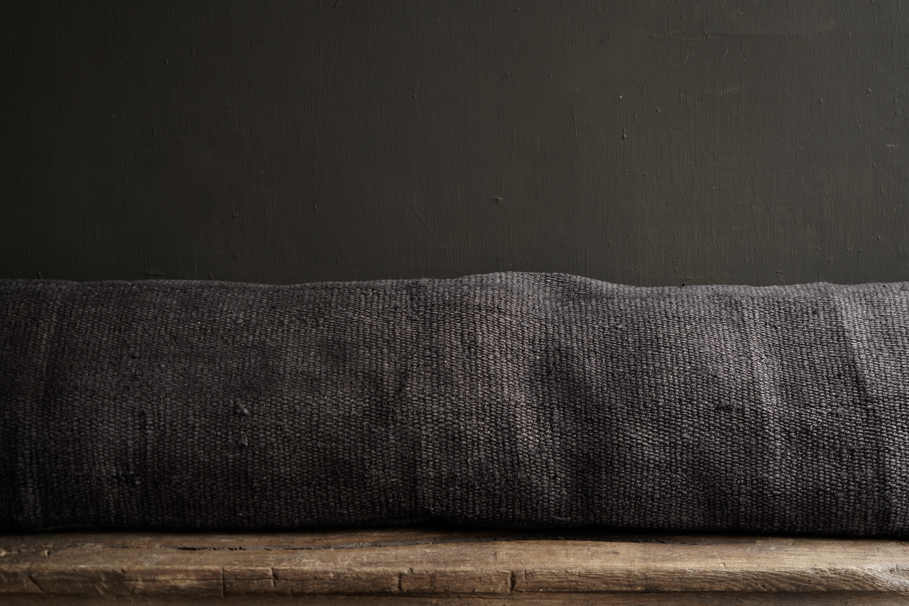 Beautiful cool long black hemp cushion-7