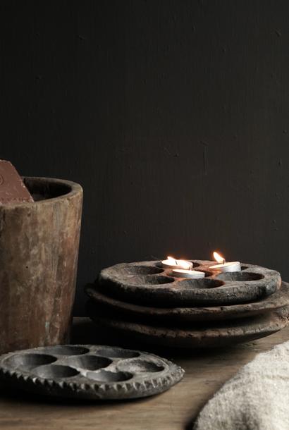 Old Indian Stone Takoyaki poffertjes plate