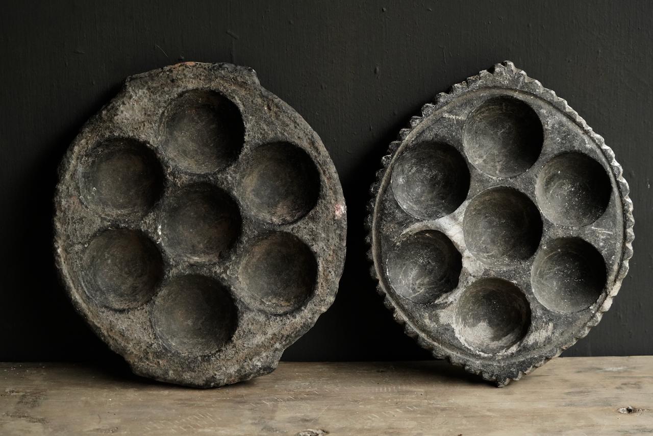 Old Indian Stone Takoyaki Poffertjes Platte-5