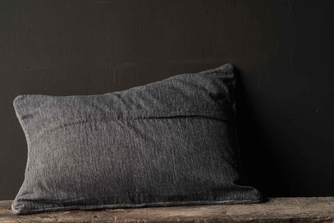Beautiful cool Gray kilim hemp cushion-4