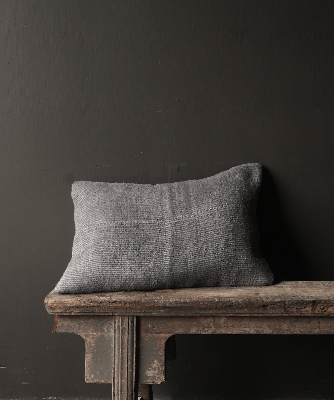 Beautiful cool Gray kilim hemp cushion-2