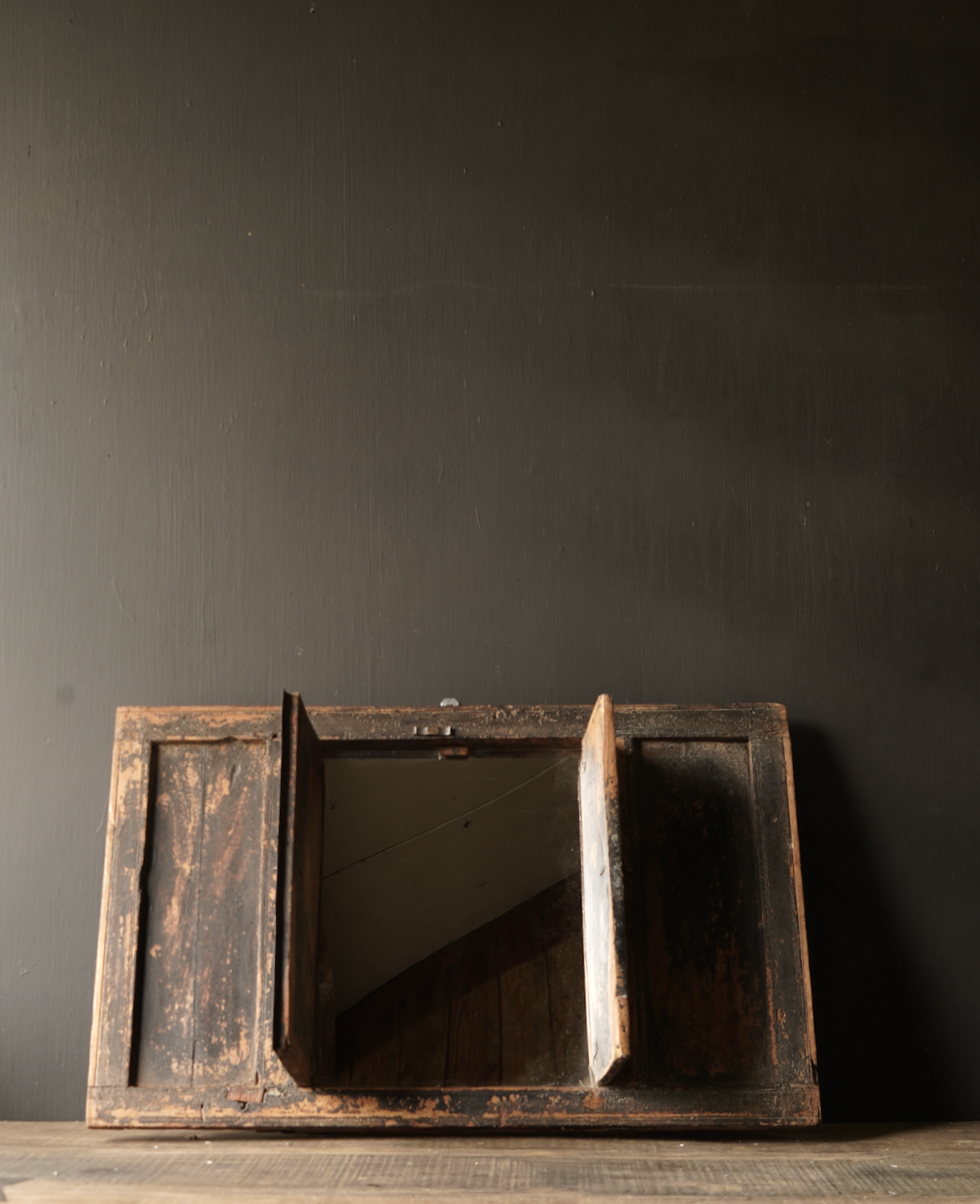 Alter Holzspiegel aus nepalesischem Rahmen-2