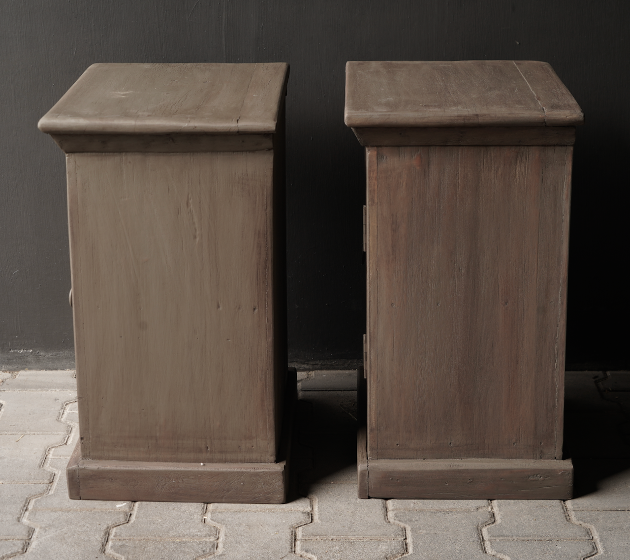Old Mud Wash wooden cupboards or bedside tables-5