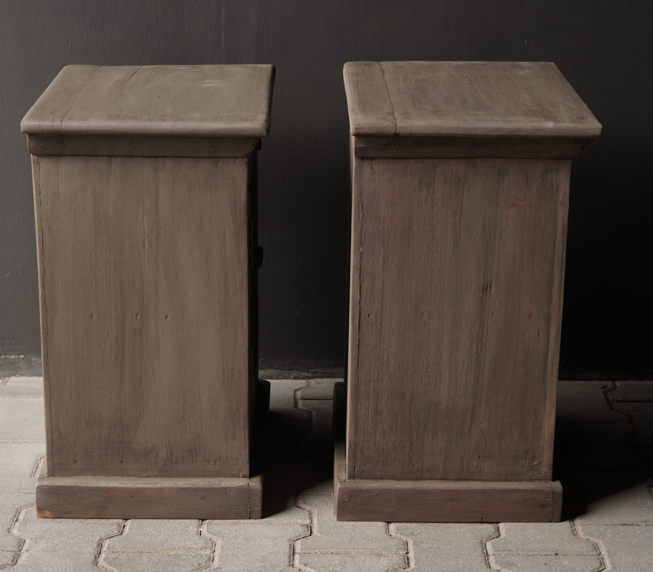 Old Mud Wash wooden cupboards or bedside tables-6