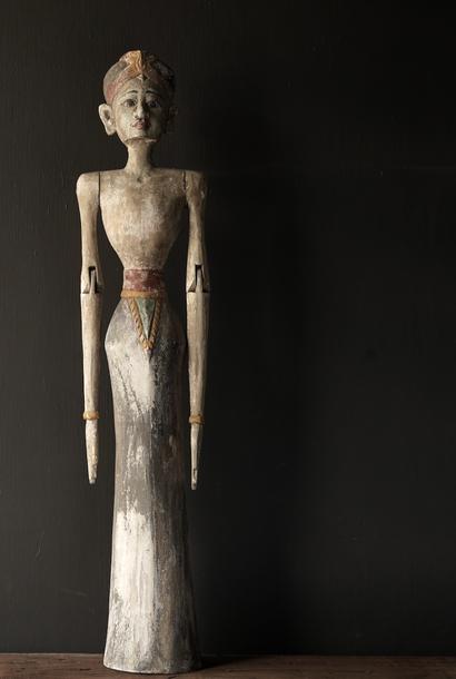 * Reserved * Wooden Suar loro blonyo statue (Handmade)