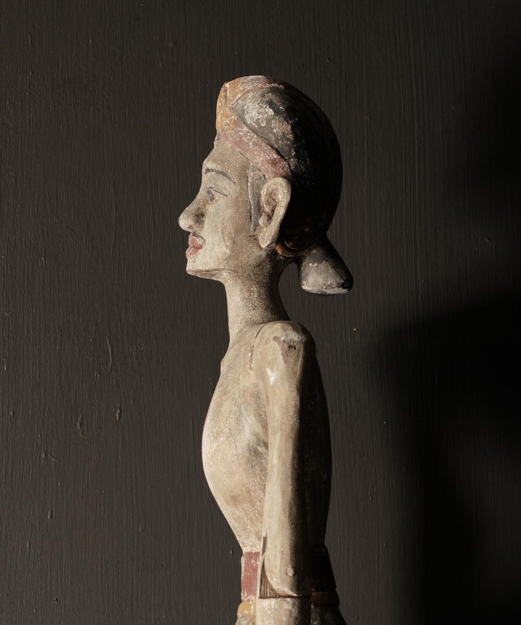 Wooden Suar loro blonyo statue (Handmade)-2