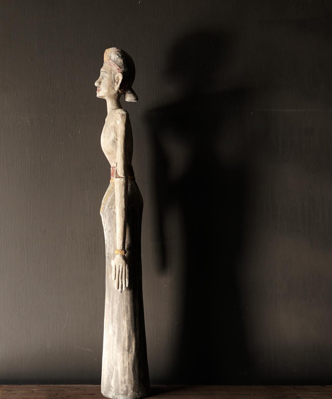 Wooden Suar loro blonyo statue (Handmade)-7