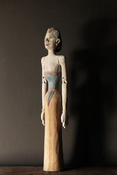 Houten Suar loro blonyo beeld (Handmade)