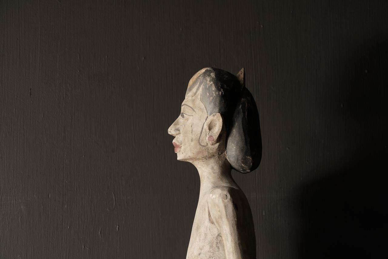Holz Suar Loro Blonyo Statue (handgemacht)-3
