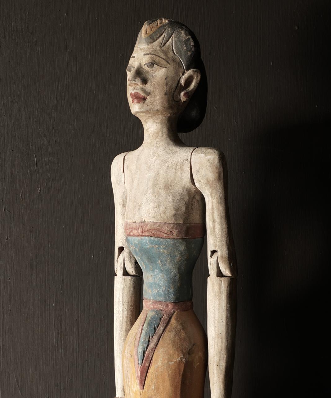 Holz Suar Loro Blonyo Statue (handgemacht)-4