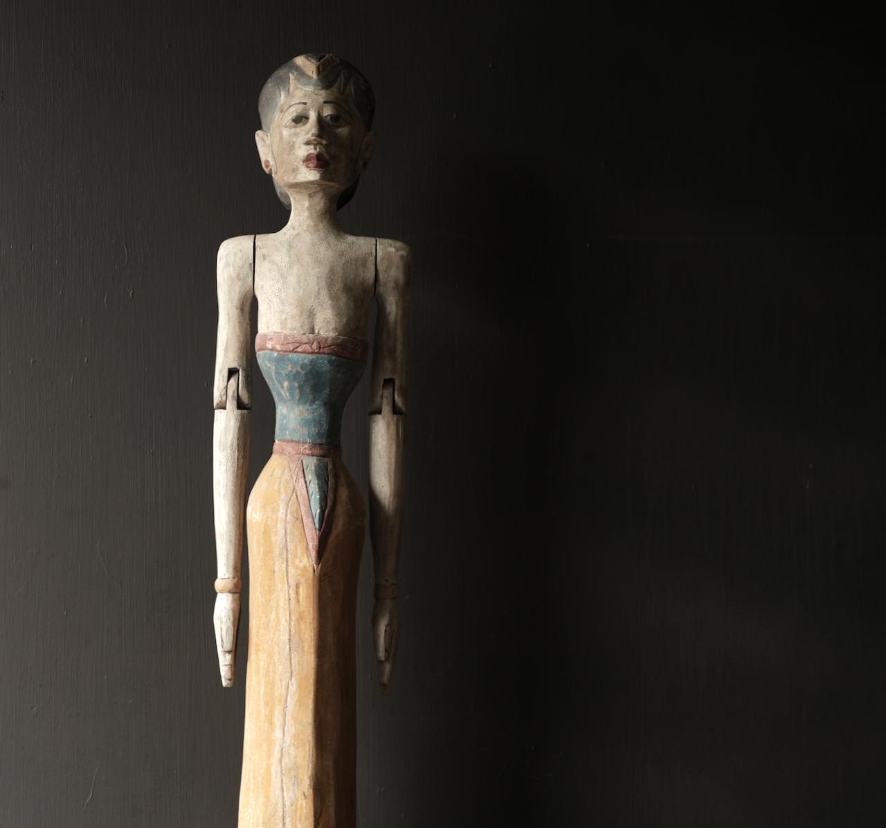 Holz Suar Loro Blonyo Statue (handgemacht)-2