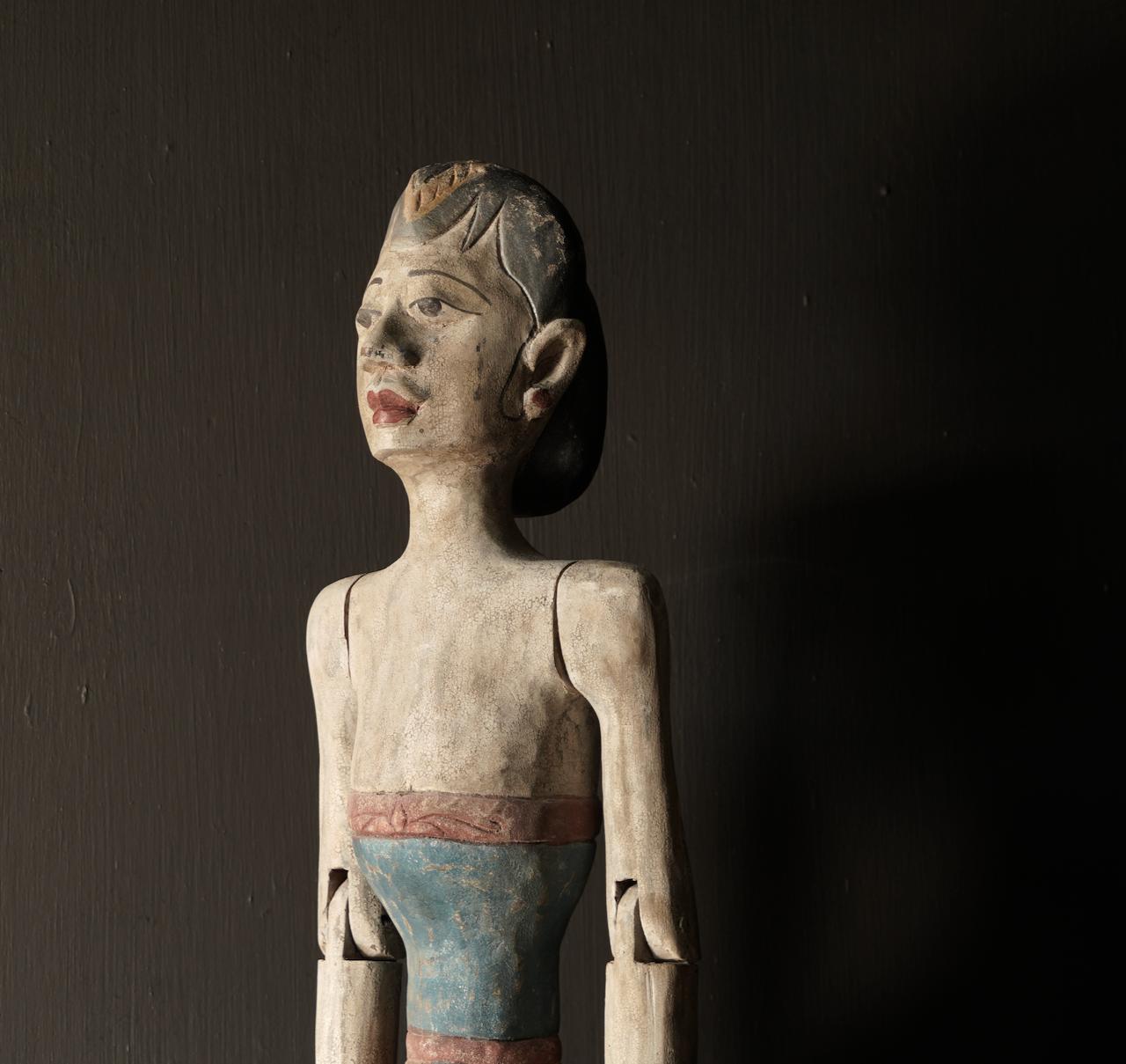 Holz Suar Loro Blonyo Statue (handgemacht)-6