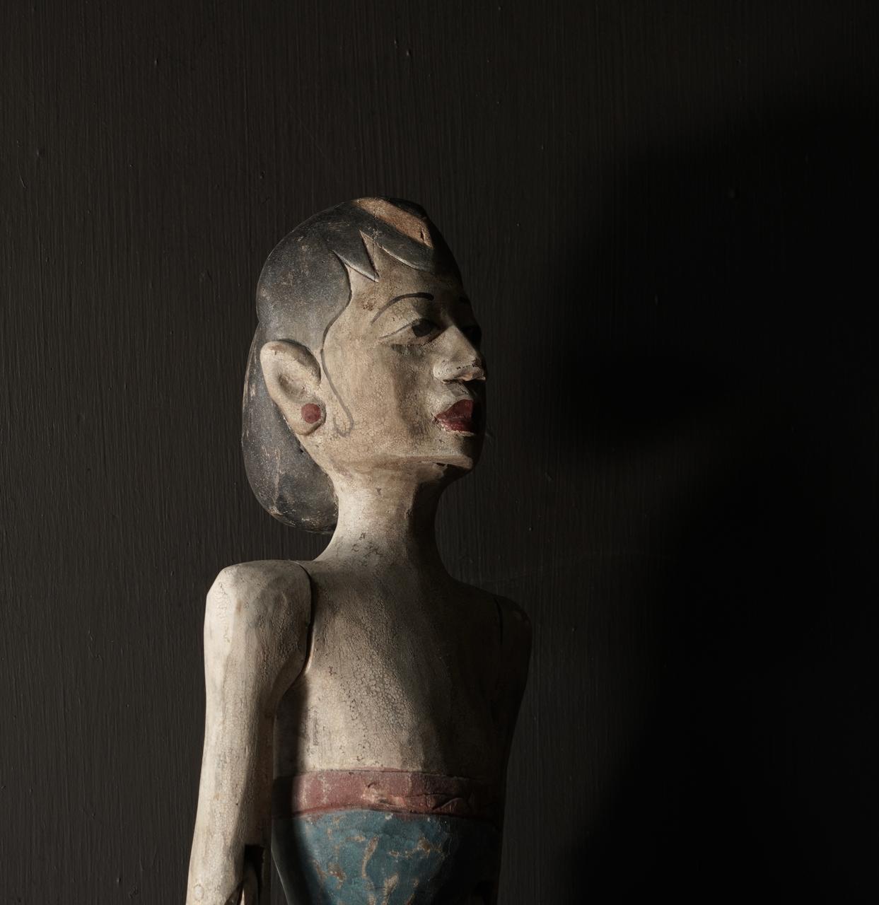 Holz Suar Loro Blonyo Statue (handgemacht)-8