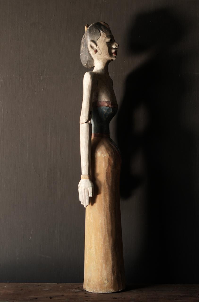 Holz Suar Loro Blonyo Statue (handgemacht)-10