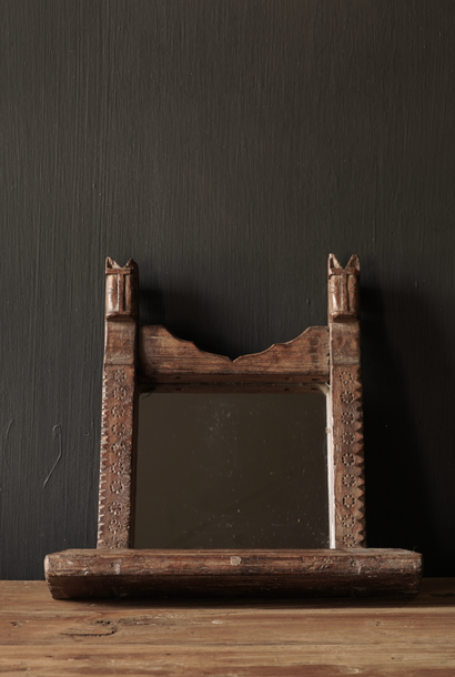 Old wooden Nepalese mirror