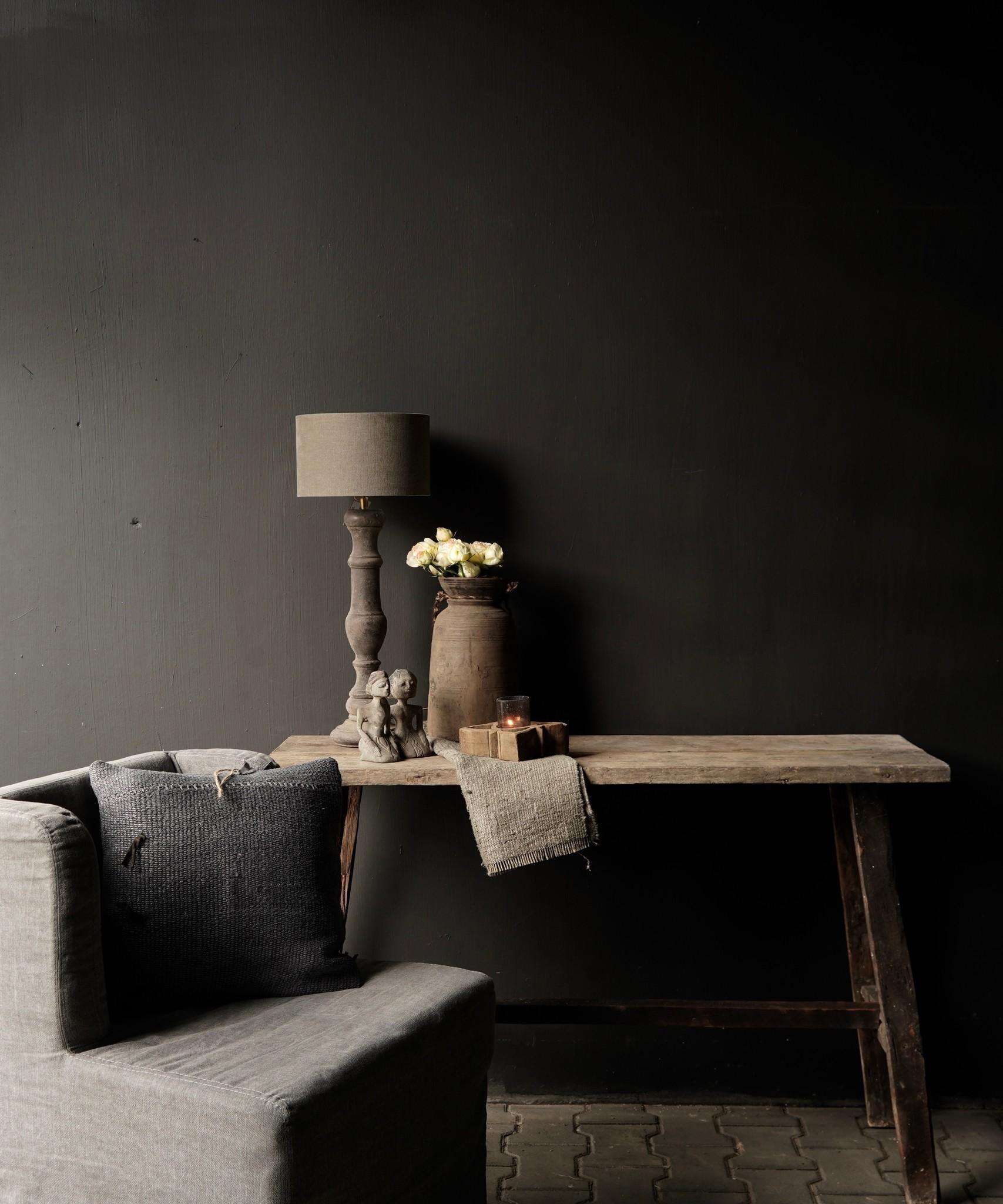 Oud houten side table /muurtafel-1