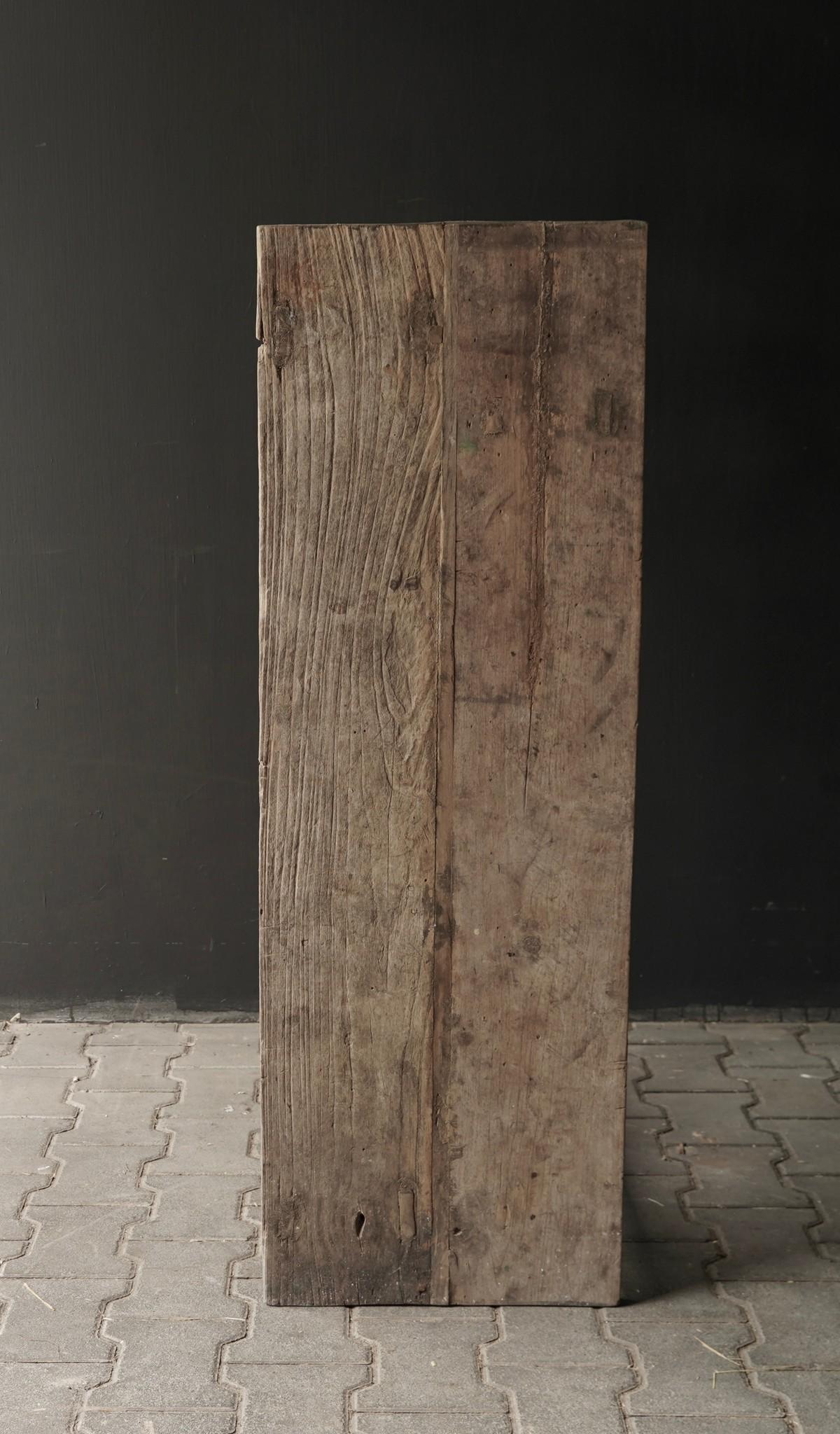 Oud houten side table /muurtafel-4