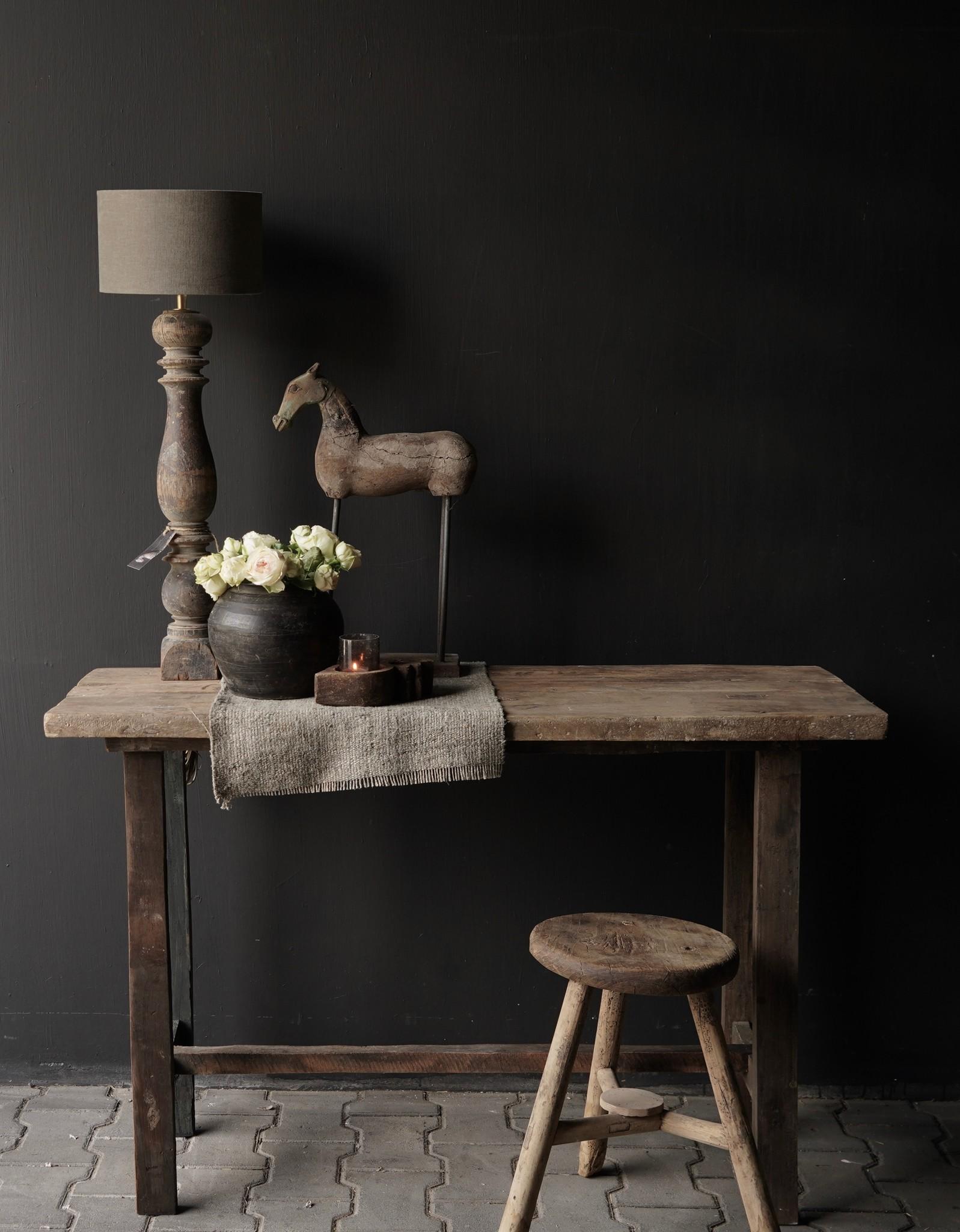 Side table gemaakt van oud stoer robuust oud hout-1