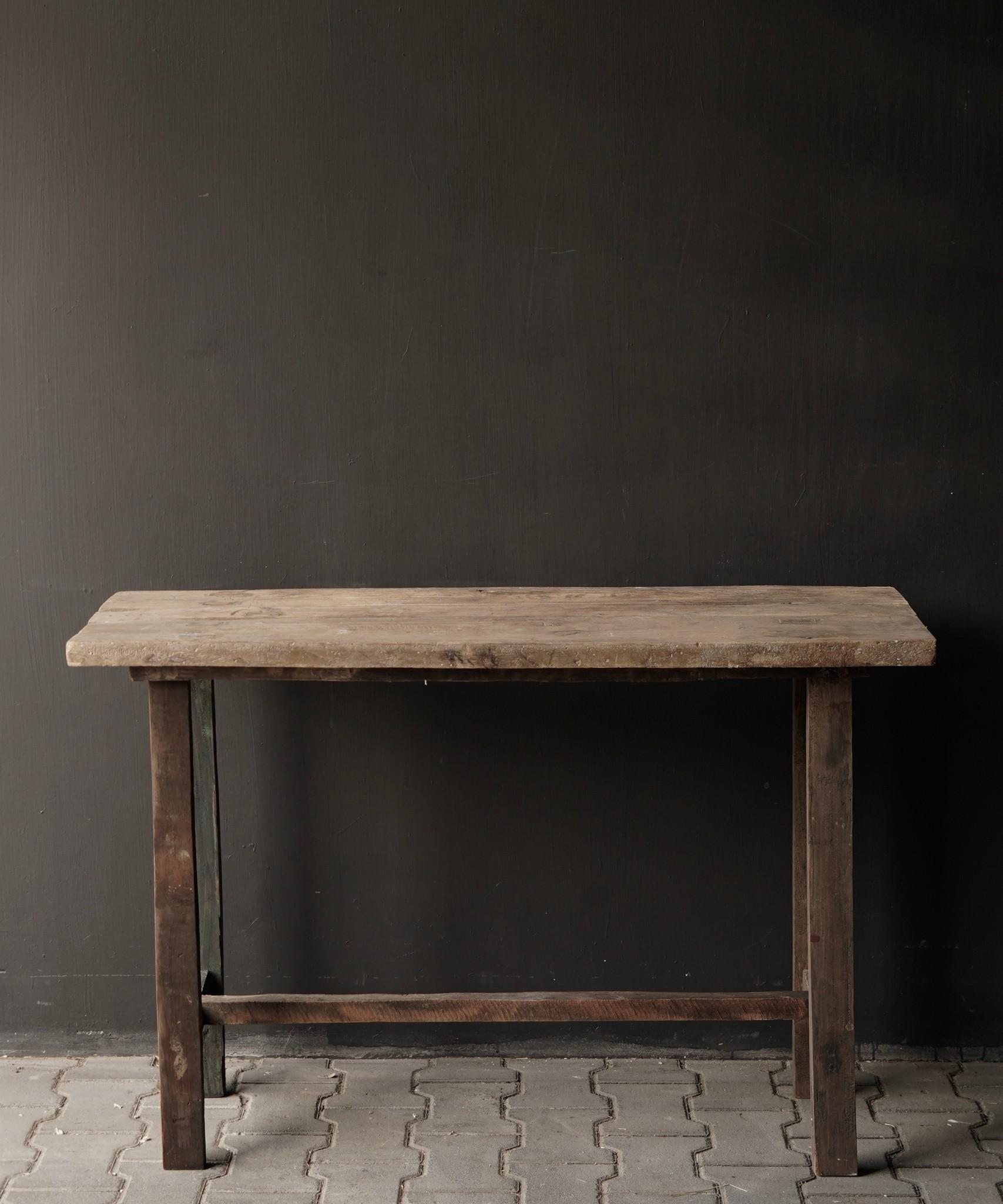 Side table gemaakt van oud stoer robuust oud hout-2