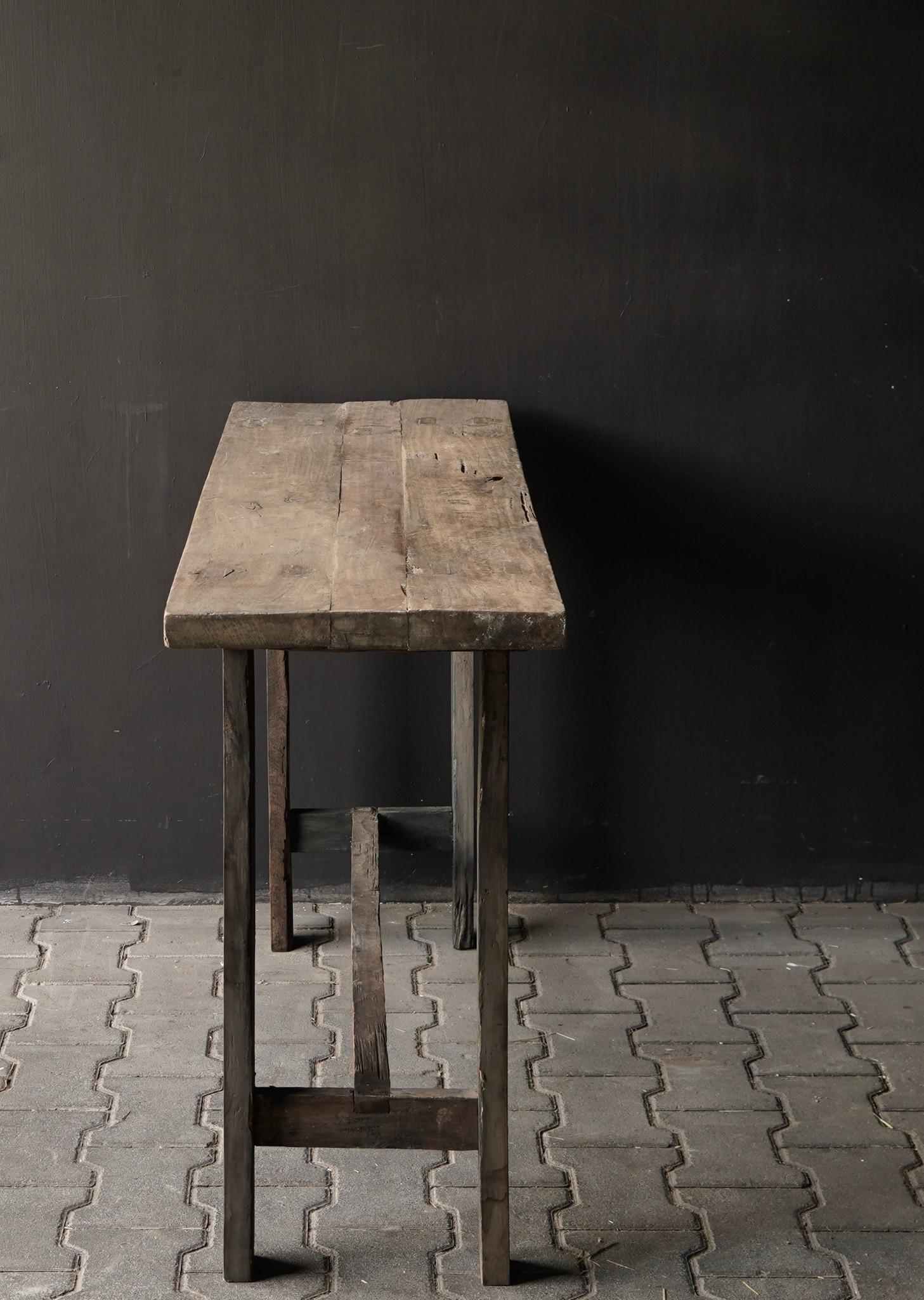 Side table gemaakt van oud stoer robuust oud hout-3