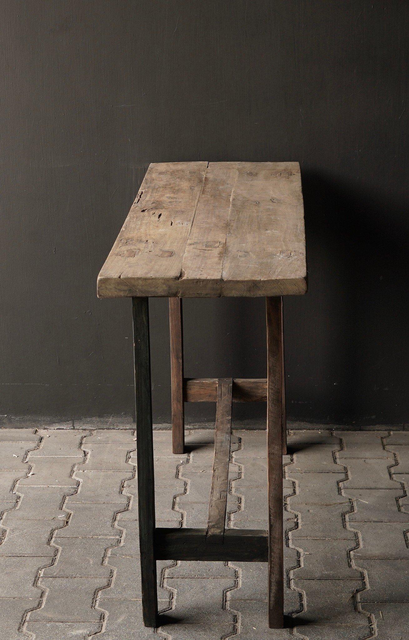 Side table gemaakt van oud stoer robuust oud hout-6