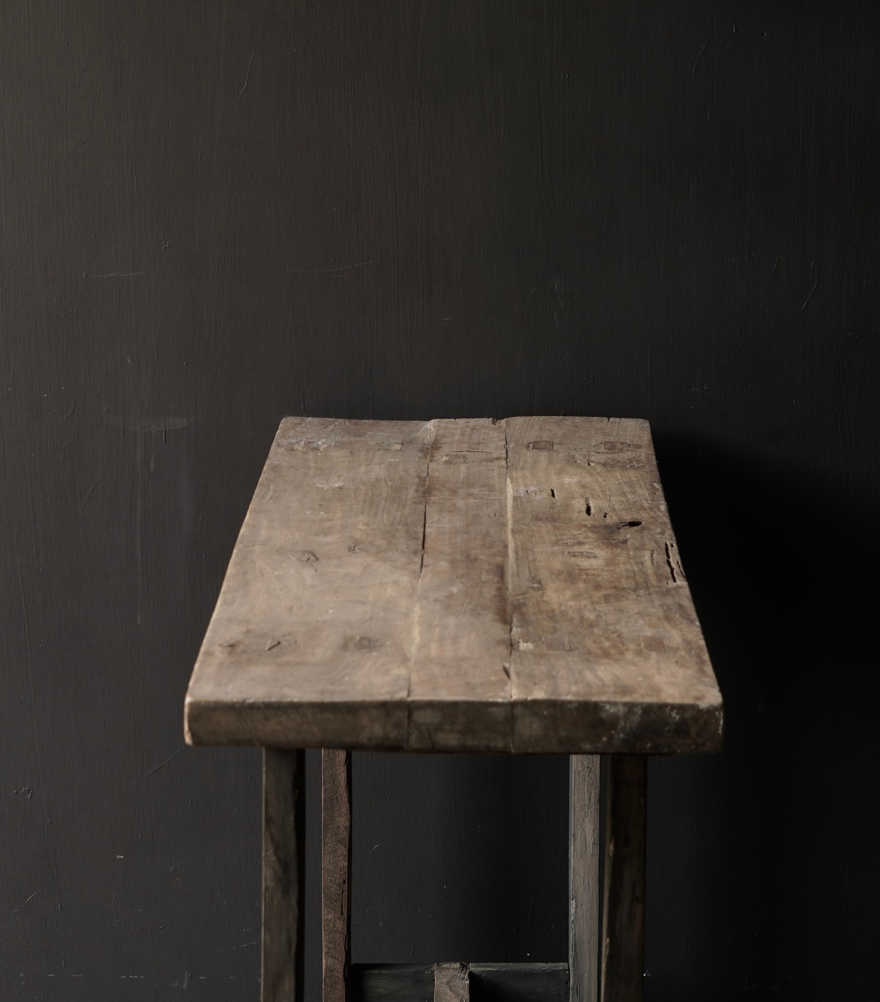 Side table made of old sturdy robust old wood-7