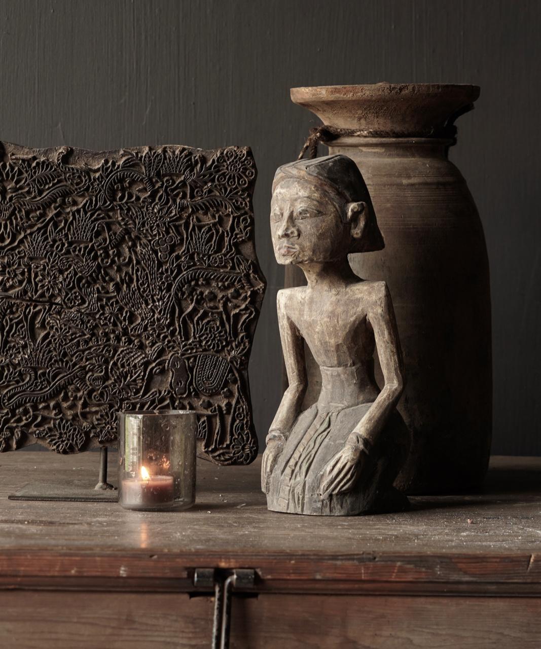 exclusive wooden Suar loro blonyo figurine-4