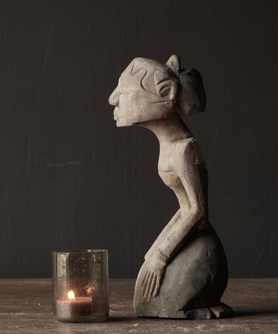 exklusive hölzerne Suar Loro Blonyo Figur-2