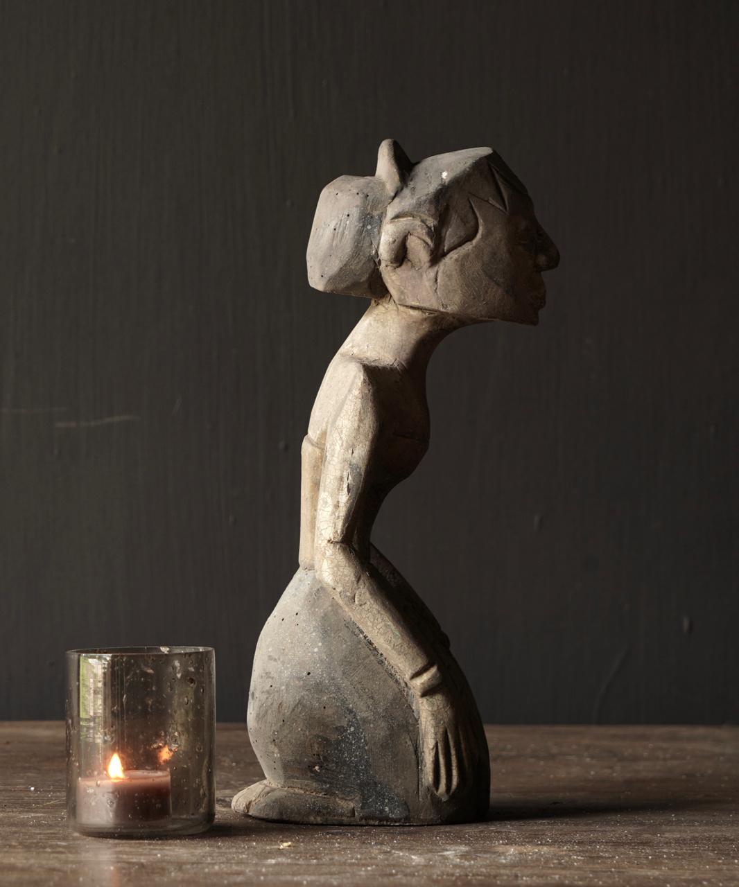 exklusive hölzerne Suar Loro Blonyo Figur-4