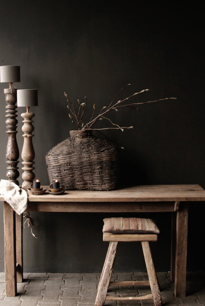 * Side table made of old sturdy robust old wood
