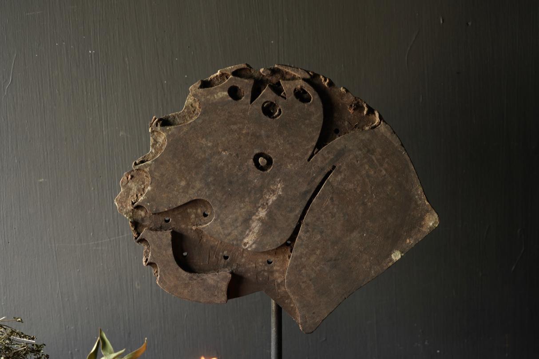 Wooden batik stamp on iron base XL-3