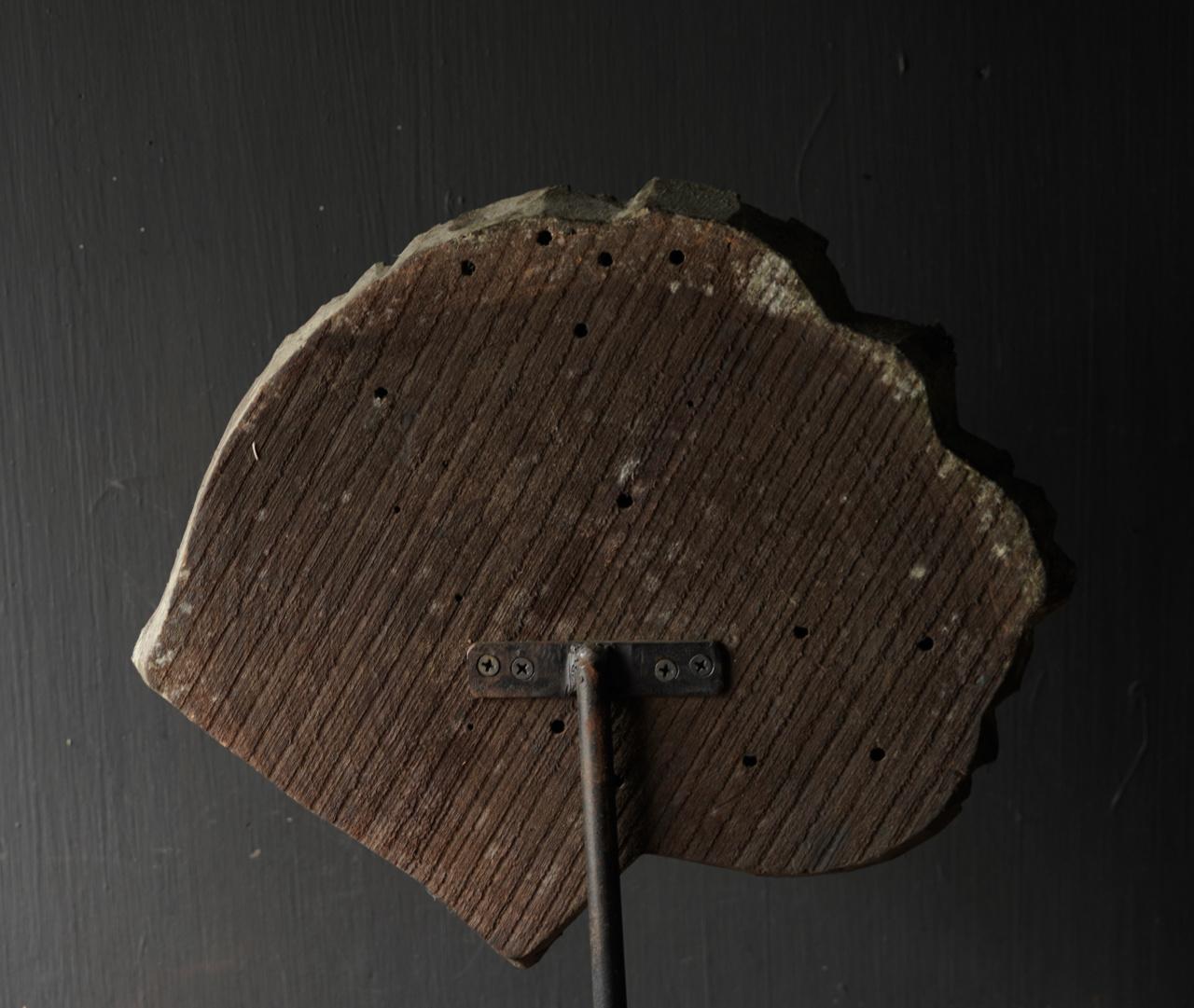Wooden batik stamp on iron base XL-4