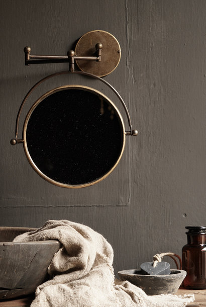 Schaar Spiegel voor aan de muur in de kleur koper