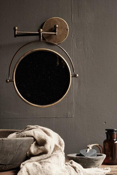 Scherenspiegel für die Wand in der Farbe Kupfer