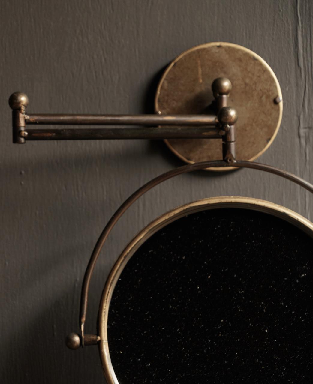 Spiegel voor aan de muur in de kleur koper-2