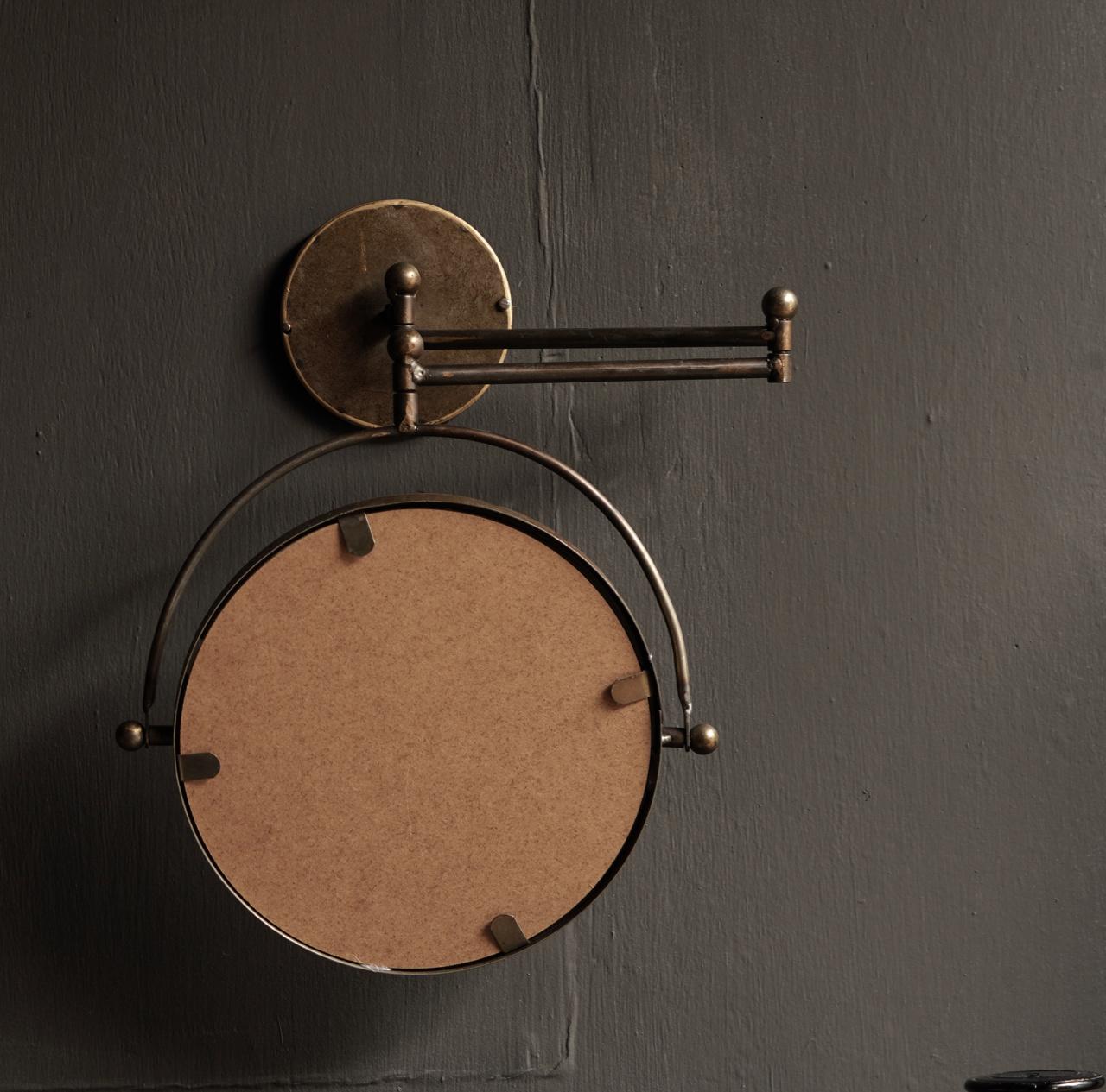 Spiegel voor aan de muur in de kleur koper-4