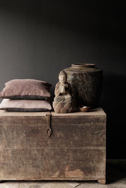 GERESERVEERD Oude Authentieke houten kist