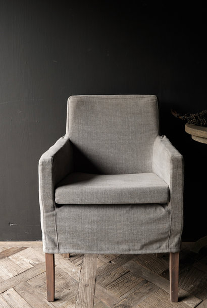 * Showroom model * Dining room chair with loose linen cover