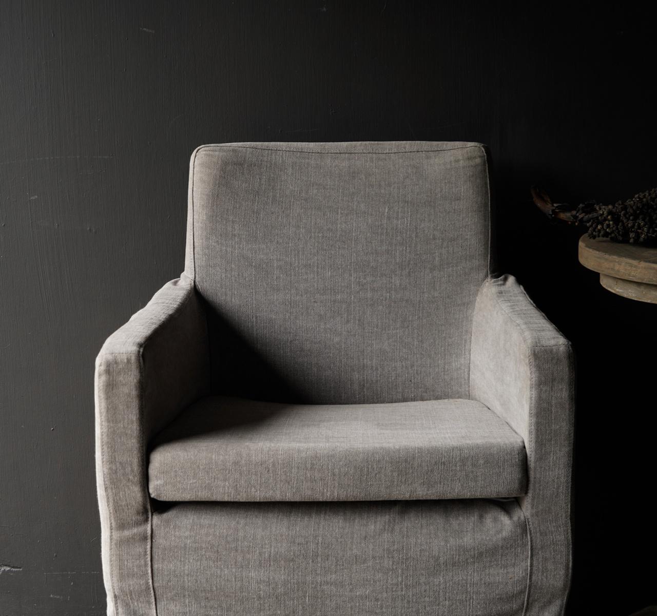 *Showroom model *Eetkamer stoel met losse linnen hoes-2