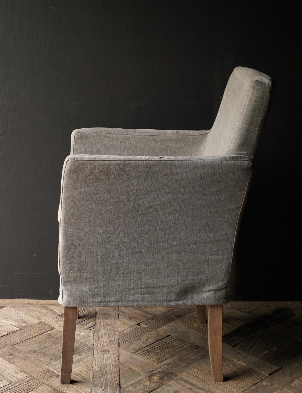 *Showroom model *Eetkamer stoel met losse linnen hoes-4