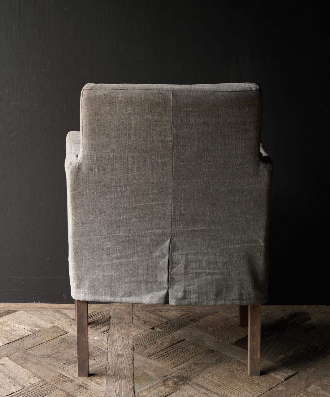 *Showroom model *Eetkamer stoel met losse linnen hoes-5