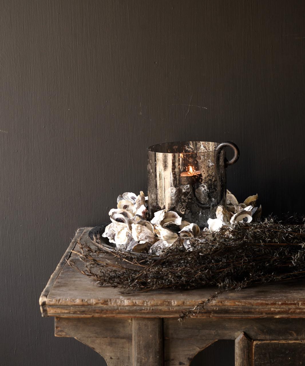 Oyster shells wreath-1
