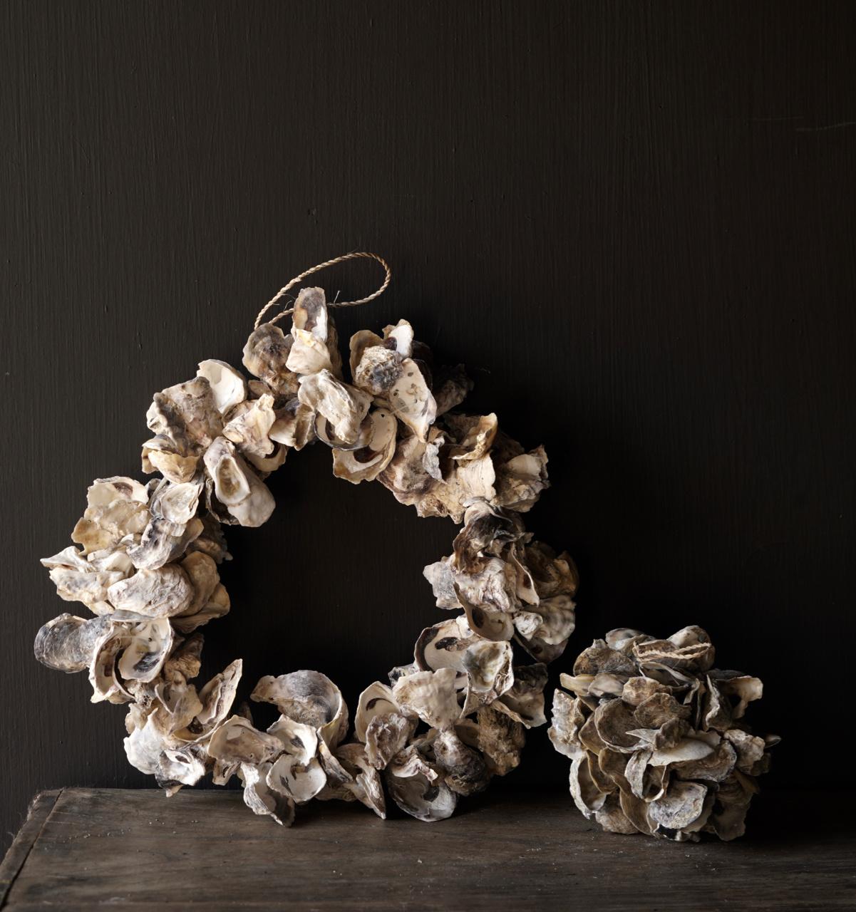 Oyster shells wreath-2