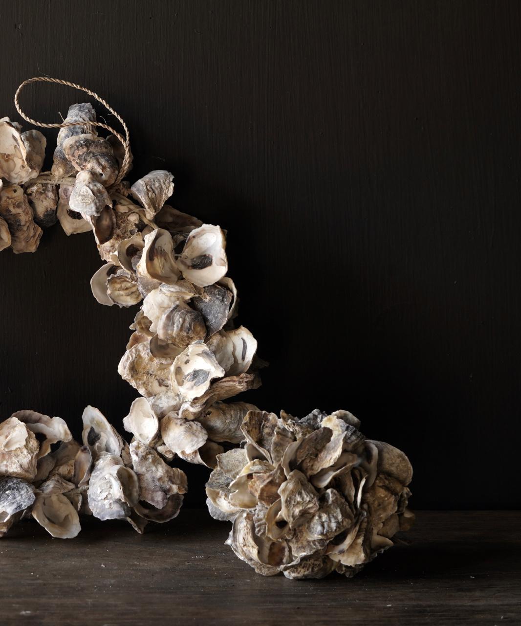 Oyster shells wreath-3