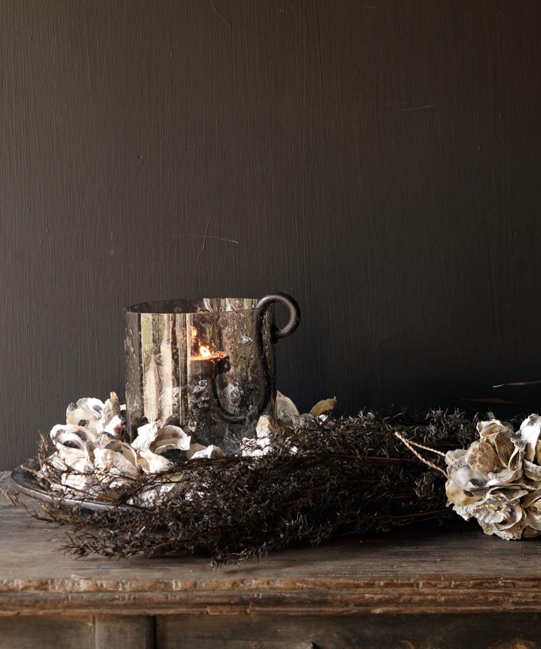 Oyster shells wreath-4
