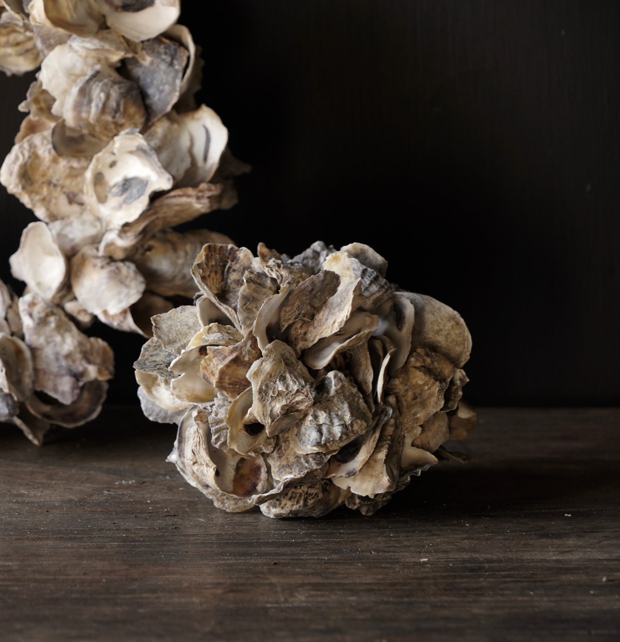 Oyster shells wreath-5